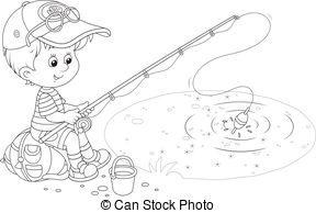 Little boy fishing Illustrations and Clip Art. 638 Little boy.