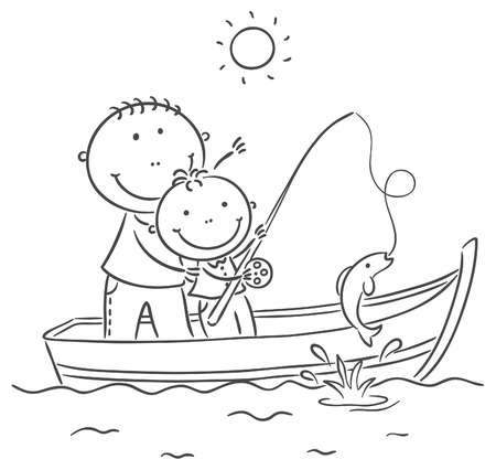 1,381 Boy Fishing Stock Illustrations, Cliparts And Royalty Free Boy.