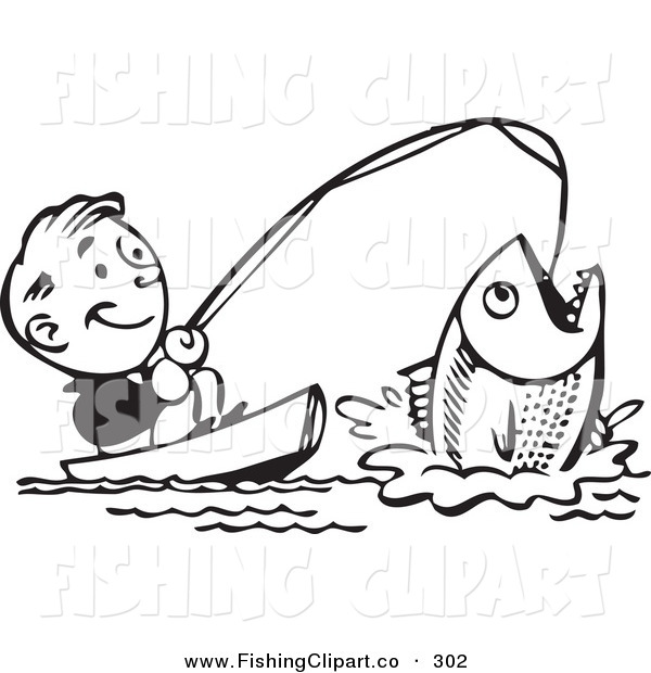 Fish Clipart Black And White.