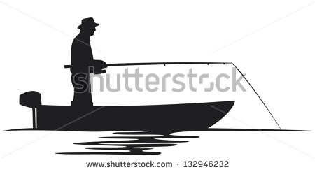 Fishing Boat Silhouette Stock Images, Royalty.