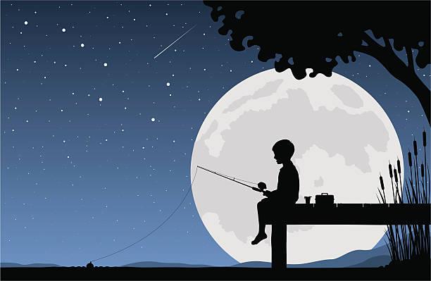 Best Boy Fishing Illustrations, Royalty.