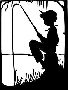 little boy silhouette.