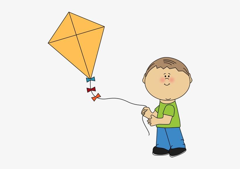 Kite Clipart Boy Flying A Kite.