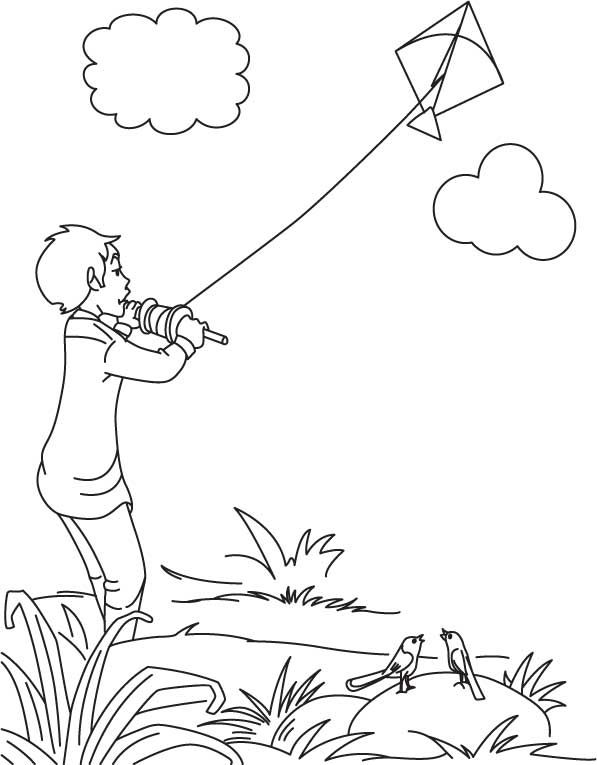 Indian Kite Clipart Black And White.