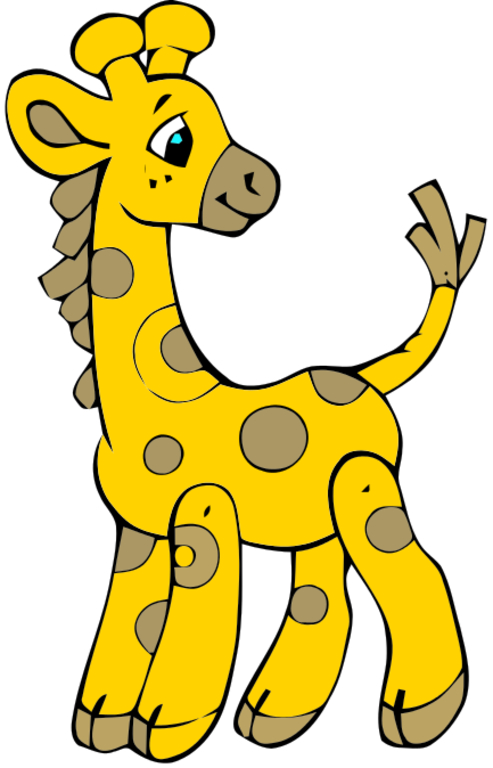 Boy giraffe clipart.