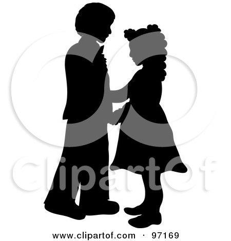 boy girl clipart silhouette - Clipground