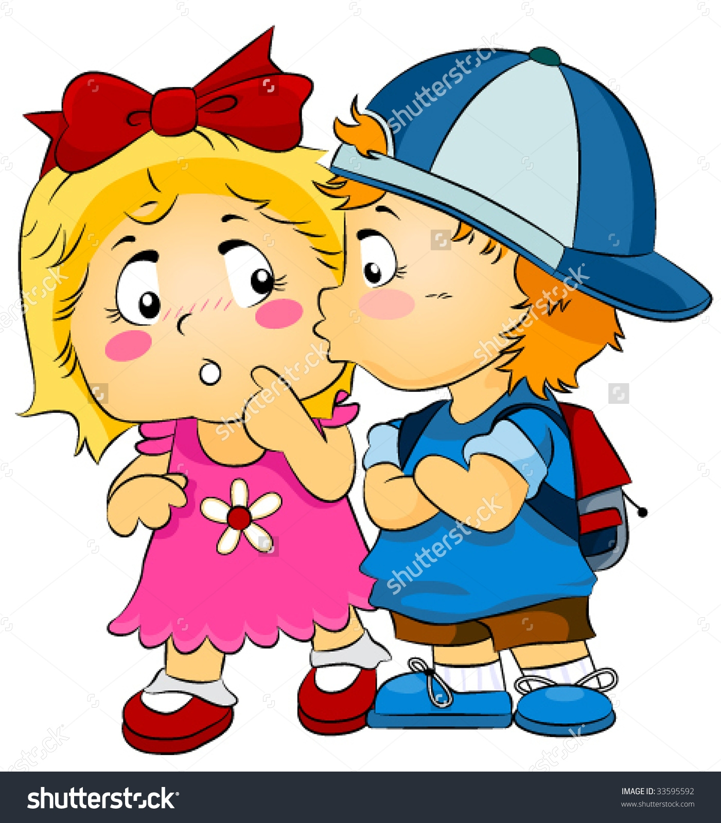 Clipart Of Boy And Girl Kissing.