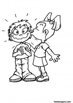 Kiss Boy Girl Clipart.