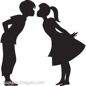 Boy Girl Kissing Clipart.