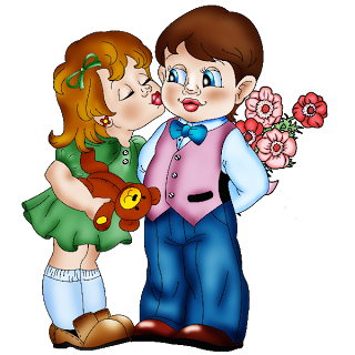 Boy Girl Kiss Love Clipart.