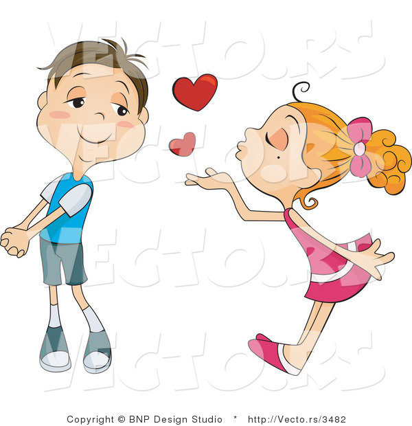 Boy And Girl Kissing Hd Clipart.
