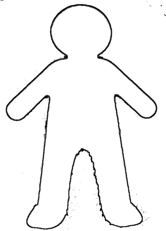 Boy And Girl Outline Clipart.