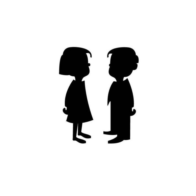 Huge Collection of 'Little boy and girl silhouette'. Download more.
