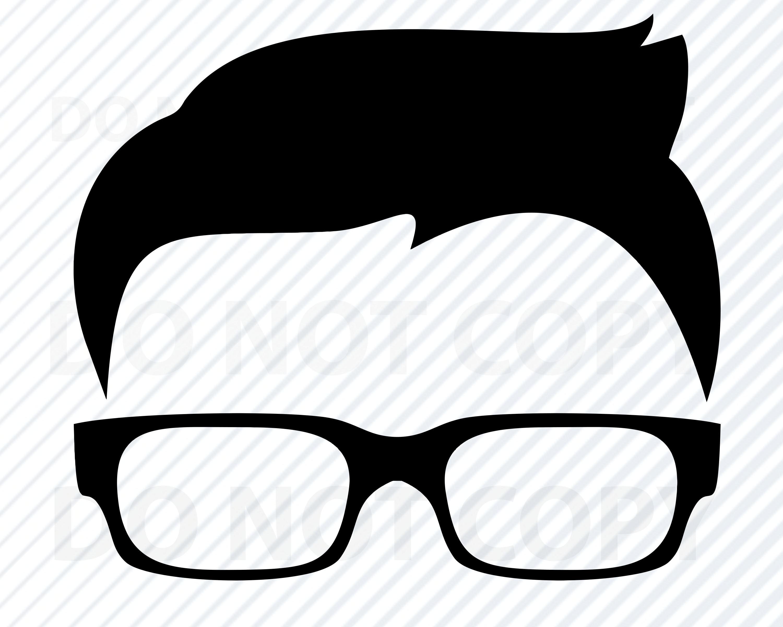 Boys Hair SVG File for Cricut.
