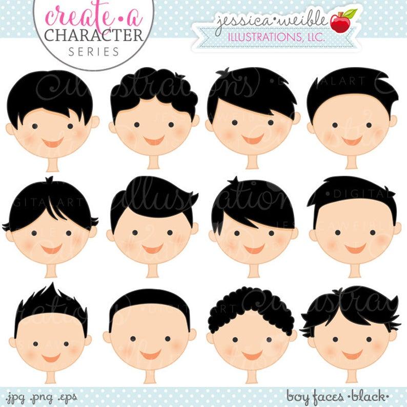 Black Hair Boy Faces.