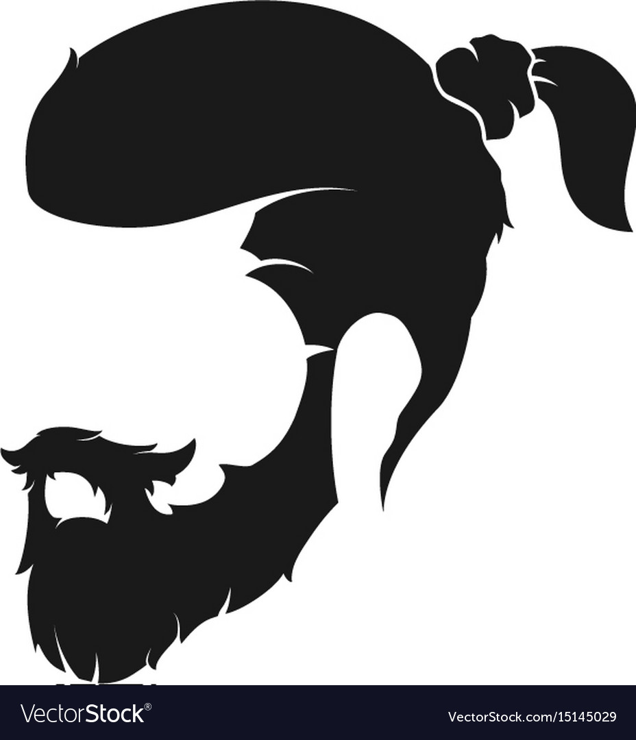 Mens hairstyle with a beard and mustache.