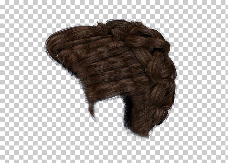 Braid Wig Bun Brown hair, boy hair wig PNG clipart.