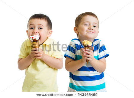 Child Eating Ice Cream Stock Images, Royalty.