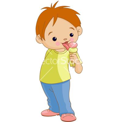 Boy With Icecream Clipart
