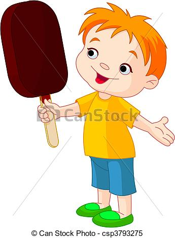 Boy With Icecream Clipart.