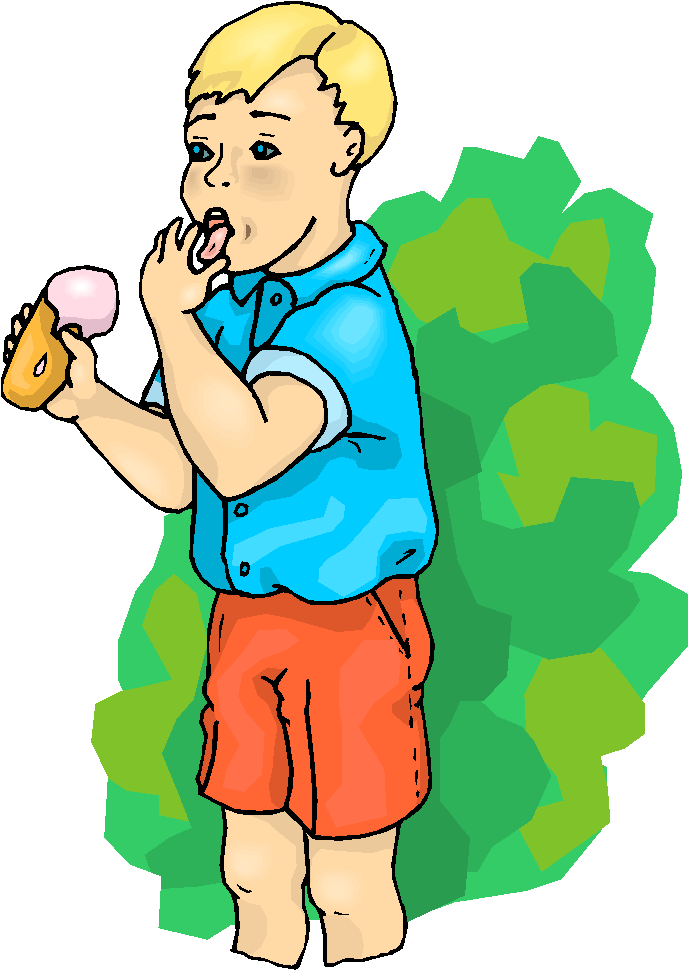 Boy ice cream and hat clipart.