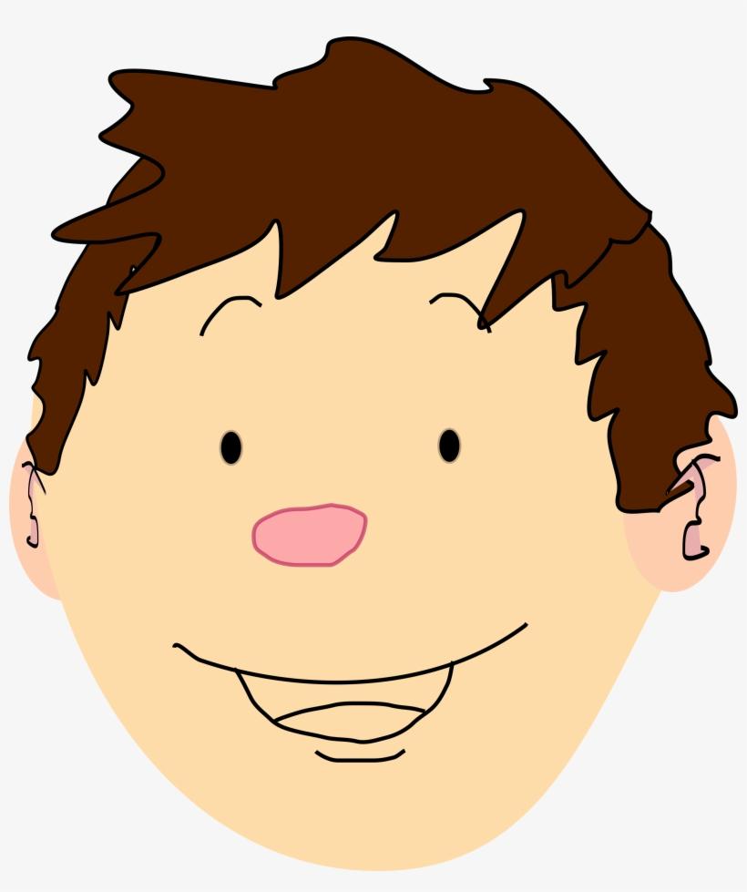 Brown Hair Clipart Boy Head.
