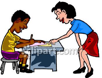 Teacher Helping Clipart.