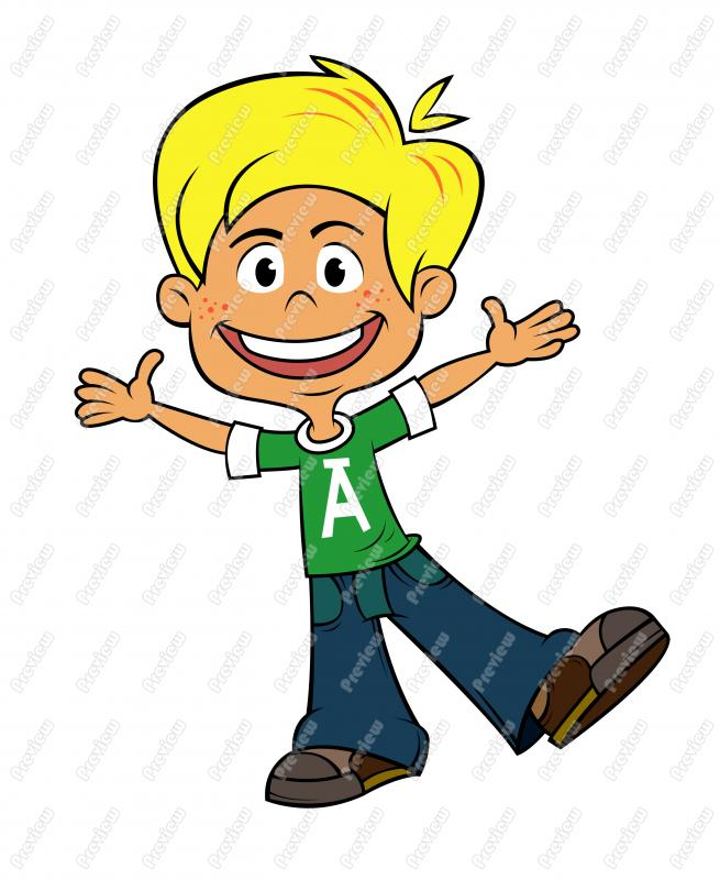 Free Animated Clipart Boy.