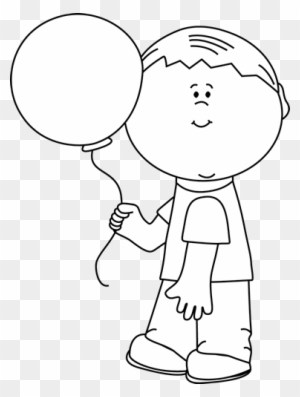 Boy holding balloons clipart black and white 3 » Clipart Portal.