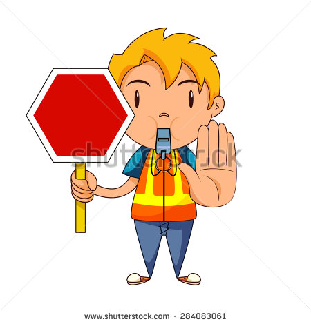 Child Holding Stop Sign Traffic Officer Stock Vector 283067891.