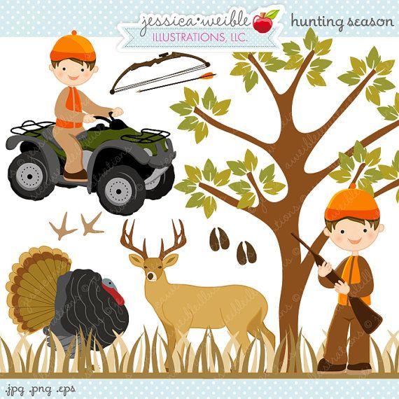 Hunting Season Cute Digital Clipart.