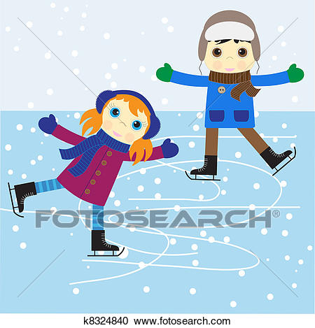 Ice skating Clipart.