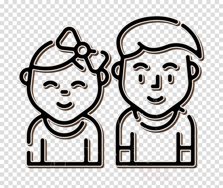 Boy icon Children icon Family icon clipart.