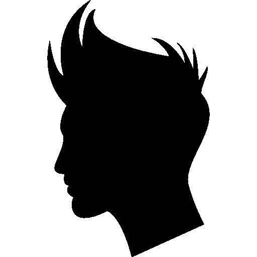 Boy hair shape Icons.