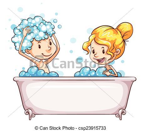 Boy In Bathtub Clipart Clipground