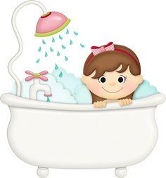 boy in bathtub clipart #12