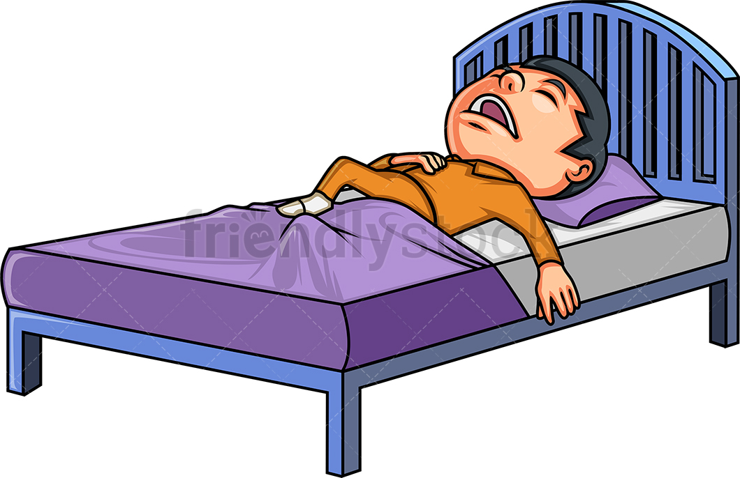 Little Boy In Bed.