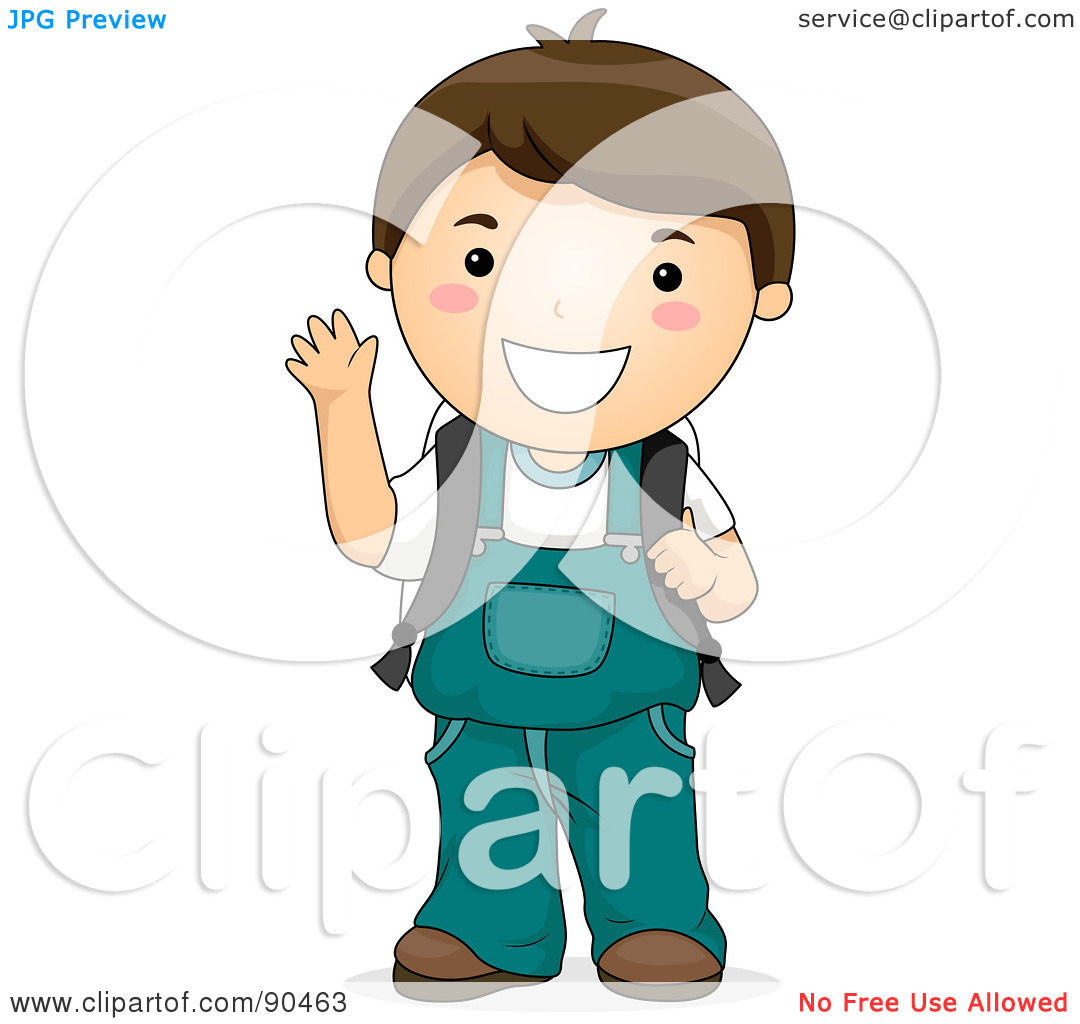 Little Kids In Overalls Clipart.