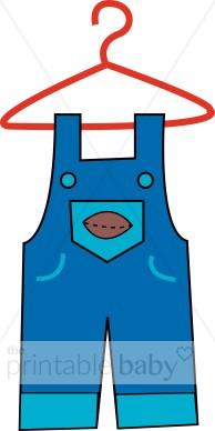 Clip Art Baby Boy Overalls Clipart.
