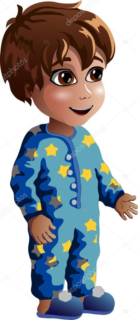 Little boy in pajamas — Stock Vector © kayson.bigmir.net #99945578.