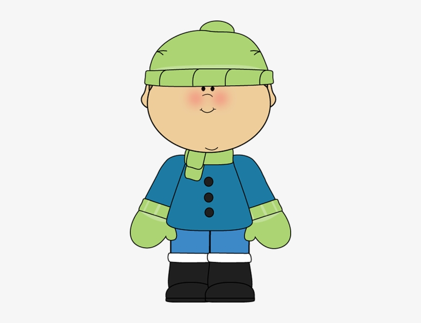 Boy In Snow Cap And Scarf Png & Free Boy In Snow Cap And.