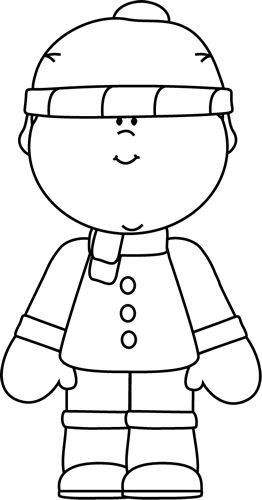 boy in snowsuit clipart