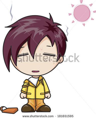 Boy Sweating Under Sun Stock Illustration 181651595.