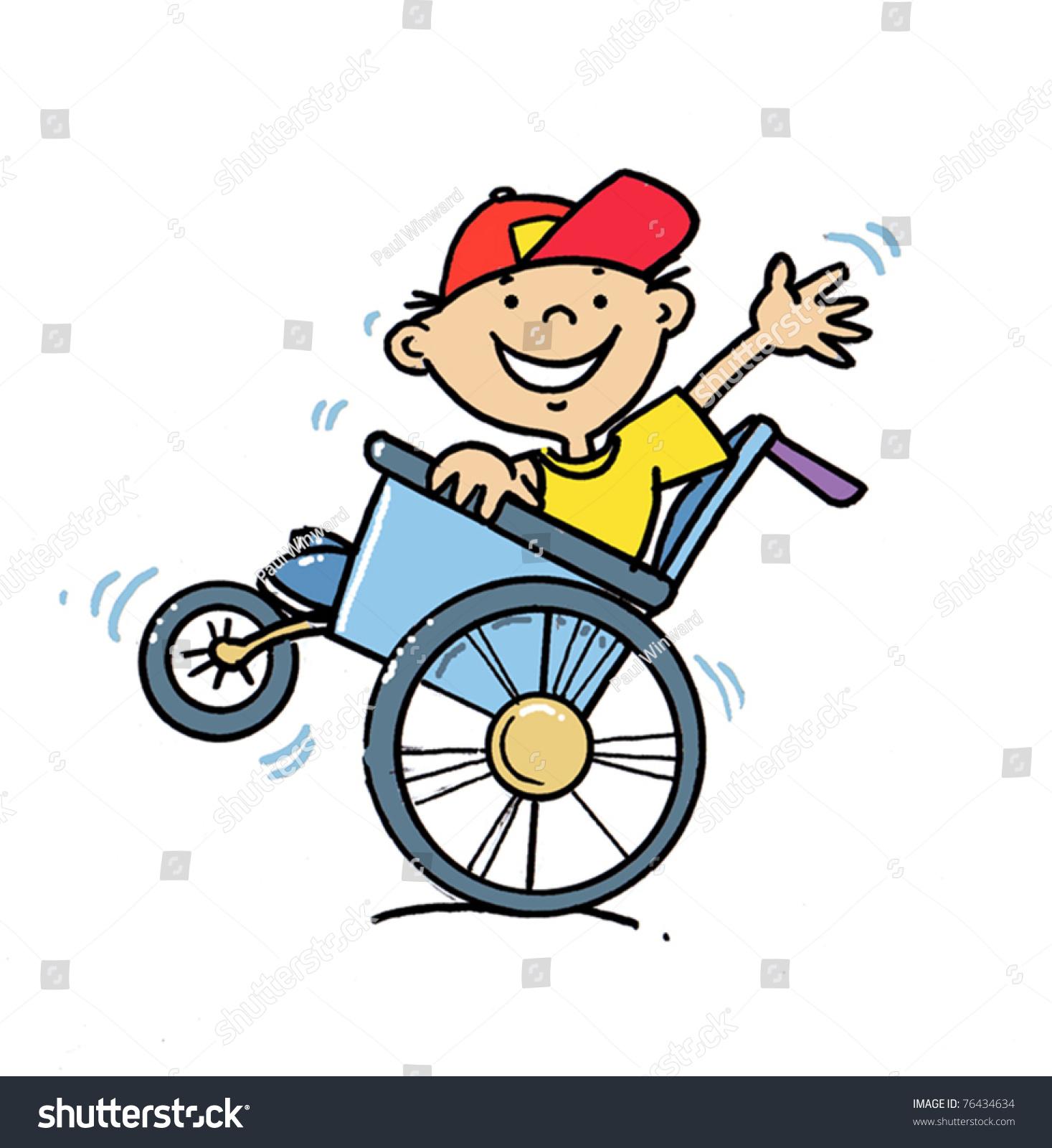 Boy In A Wheelchair Stock Vector Illustration 76434634.