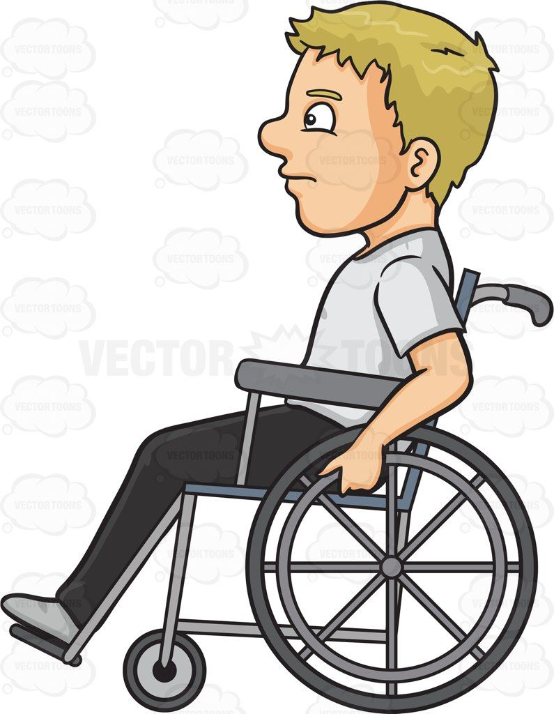 A man in a wheelchair #cartoon #clipart #vector #vectortoons.