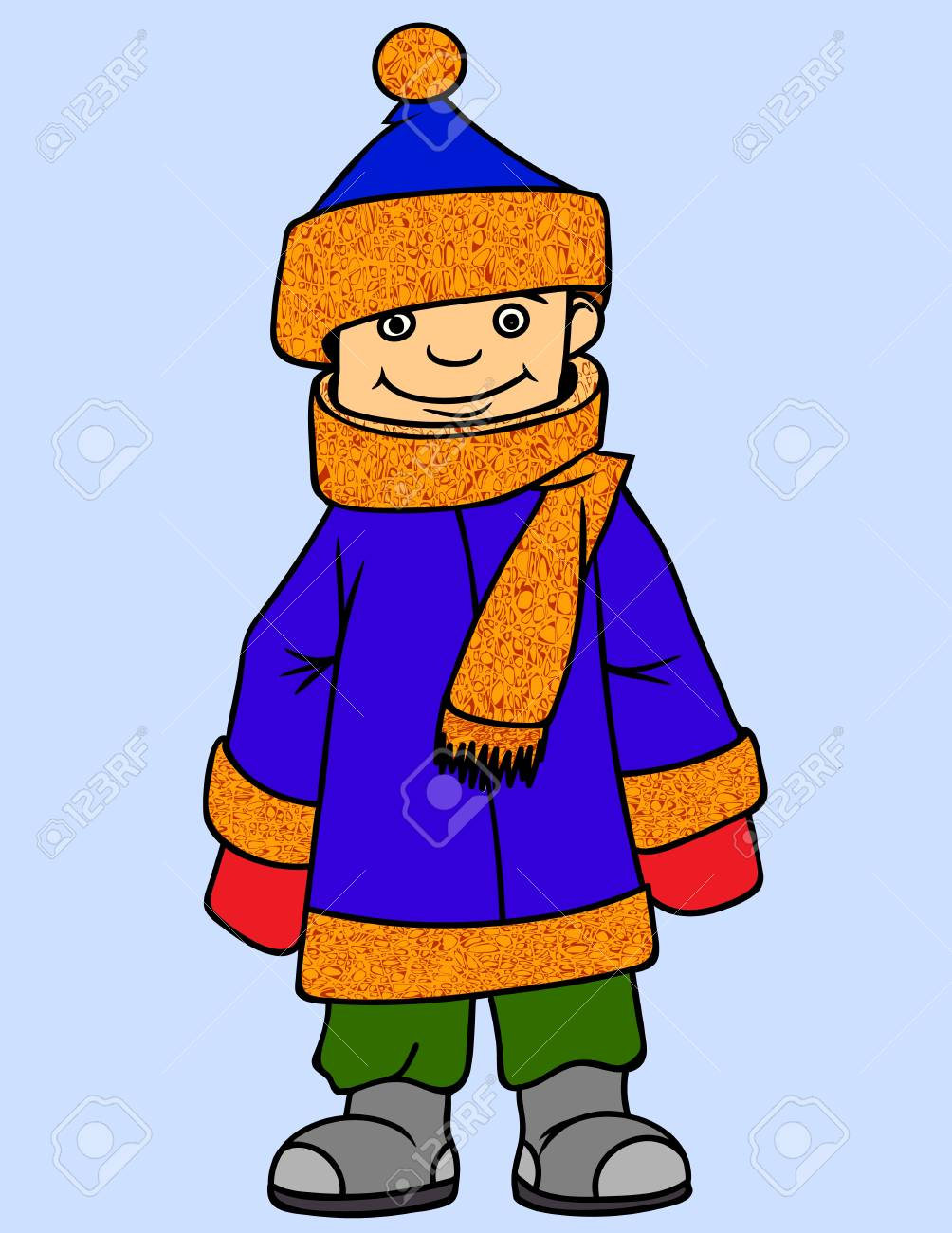 Little Boy wearing Winter Clothes..