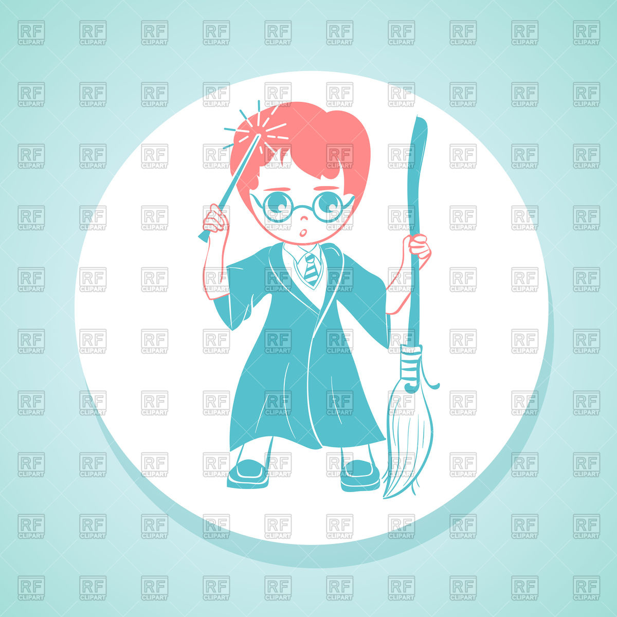 Boy In Wizard Costume Clipart.