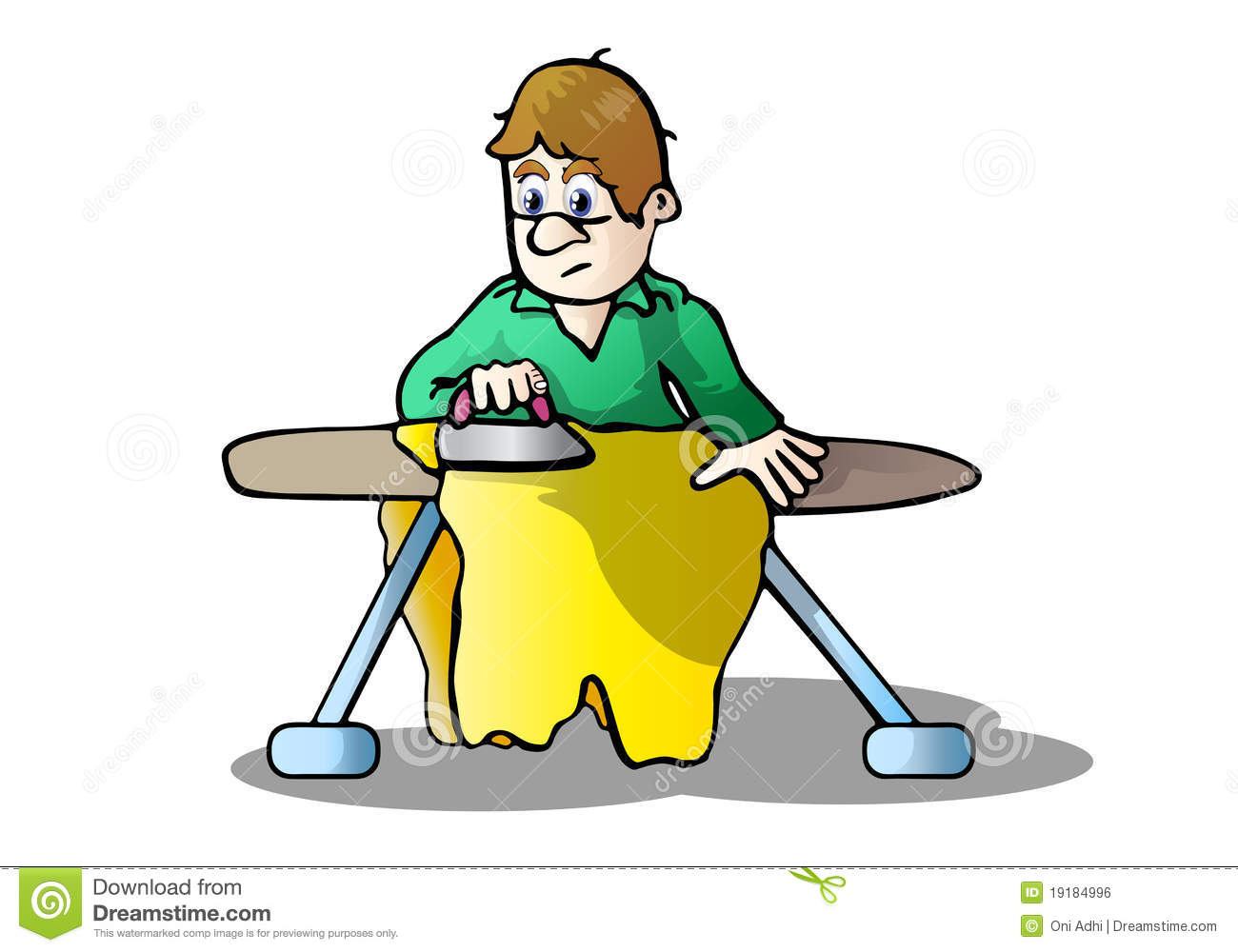 Showing post & media for Cartoon person ironing.