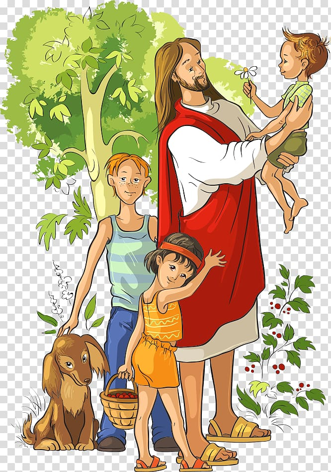 Family illustration, They Met Jesus: A Childs Life of Christ.