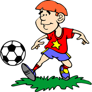 Boy Kicking Soccer Ball (#2) clipart, cliparts of Boy.